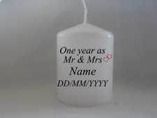First Anniversary One Year Anniversary as Mr and Mrs Candle gift