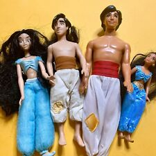 Lot Of 4 Vintage Aladdin  & Princess Jasmine 90s Applause Dolls Barbies