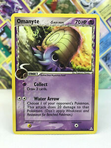 Omanyte (Amonitas)Pokémon Karte - EX Holon Phantoms 74/110 Englisch - Low Played