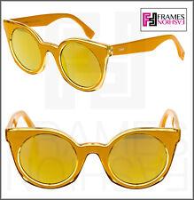 fc7a24d2eda8 FENDI BE YOU FF0196S Yellow Orange Mirrored Sunglasses Cat Eye Runway 0196