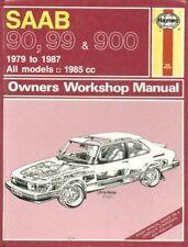 SAAB 99 & 900 INCL TURBO 16V CABRIOLET 1979-1987 REPAIR MANUAL * HARDBACK NEW *