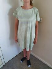 Joules Striped  grey/green Jumper Dress Size 18