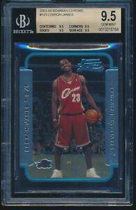 2003-04 Bowman Chrome LeBron James Rookie RC #123 BGS 9.5 GEM MINT QUAD 9.5 SUBS