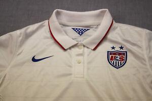 NIKE USA National Team Soccer Womens White Dri-Fit SS Polo Shirt Jersey NWT  XL