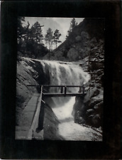 Vintage Mounted Photo - Upper Seven Falls near Colorado Springs, CO