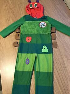 Boys Girls The Very Hungry Caterpillar Fancy Dress Up Costume World Book Day 3-4