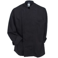 NWT DICKIES UNISEX EXECUTIVE CHEF COAT IN BLACK DC41B
