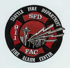 Seattle Fire Department SFD 911 Dispatch Fire Alarm Center Company patch