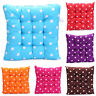 Tie on Chunky Polka Dot Cotton Seat Pad Comfy Seat Pads Kitchen Dining Cushions