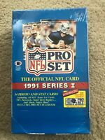 1991 PRO SET Series 1 NFL Trading Cards Factory Sealed Box - 36 Wax Packs