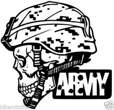 US Army Skull Bumper sticker Toolbox sticker Laptop Sticker Die cut