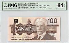 Canada 1988 BC-60a-i PMG Choice UNC 64 EPQ 100 Dollars (Thiessen-Crow)