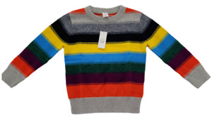 Baby Gap Toddler Boy's Long Sleeve Colorful Striped Sweater Size 4 Years