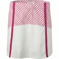 NWT LADY HAGEN Sunset Women's Pink Crush Windowpane Block Golf Skorts ~ 14