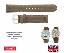 Timex T46681 and T49828 Expedition Brown Leather Watch Strap Band