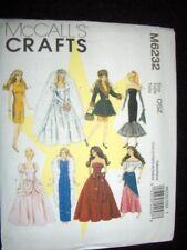 "11"" Doll Barbie New McCalls 6232 Pattern Wedding Dress Formals"
