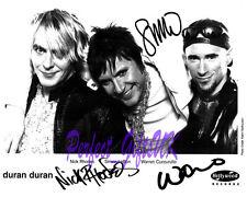 Duran Duran SIGNED SIGNATURE AUTOGRAPH 10X8 REPRO PHOTO PRINT LeBon Rhodes