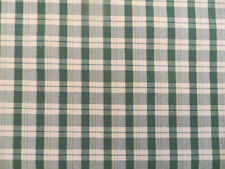 Green and cream moire satin finish woven check decorator material multiple uses