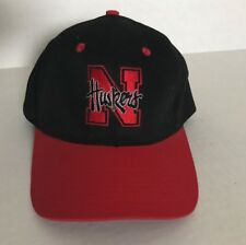 Rare Nebraska Lightware Fiber Light Up Logo Hat Black Red Cornhuskers NCAA