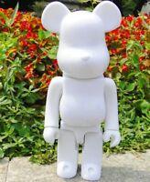 """Be@rbrick Bearbrick 400% DIY Paint Color White PVC Action Figure Toy 28CM 11"""""""