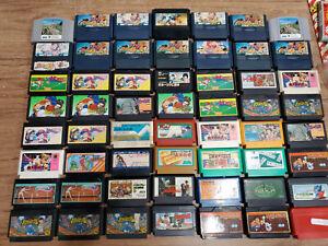 Wholesale lot of 54 Famicom Carts 2 64 FC As-Is Junk Sports NES JP Set US Seller