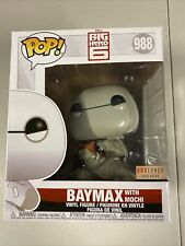 Funko Pop Baymax With Mochi 988 Big Hero 6 BoxLunch Exclusive BRAND NEW SEALED