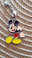 Mickey mouse Gotcha! Belly Ring Navel Ring 14G Surgical Steel Dangle