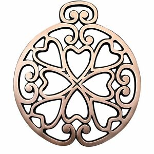 Pampered Chef Copper Cast Iron Trivet 2007 Round Up From The Heart Square 2938