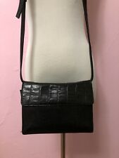 Vintage Black TUSK Crossbody Bag Leather