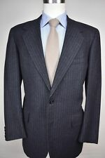 Oxxford Clothes Charcoal Gray 100% Worsted Wool Two Button Sport Coat Size: 40R