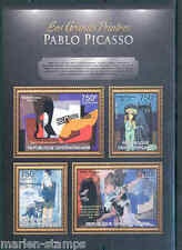 CENTRAL AFRICA 2012  THE GREATEST PAINTERS PABLO PICASSO  SHEET NH