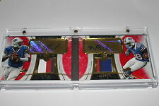 1/1 2013 Topps Supreme Dual Auto Patch Red EJ Manuel/Marquise Goodwin RC BOOKLET