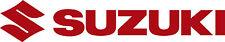 """#183 (2) 9"""" x 1.5"""" Suzuki Logo Motorcycle Car Decals Stickers GLOSS RED"""