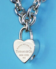 Tiffany & Co Return To Tiffany Sterling Silver Heart Padlock Charm ONLY