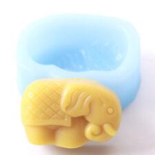 Elefante De Silicona Jabones Molde r0090 libre de envío