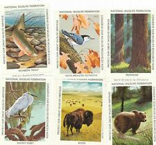 National Wildlife Federation Stamps for Christmas Sheet - 6 big stamps