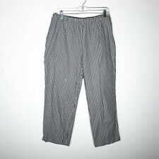 Coldwater Creek Pants Womens 14 Cropped Black White Gingham Checked