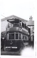 Ex-Darlington Old Photograph of Dover Tram No. 8 at the Maxton Depot