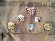 4 neue TRIUMPH A7 Pins  f ü r  Barbour International Legend Wachs Bikerjacke
