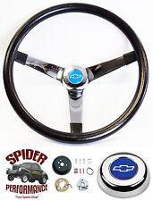 """1960-1969 Chevy pickup steering wheel BLUE BOWTIE 14 3/4"""" Grant steering wheel"""