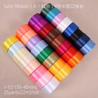 "25 Yards Satin Ribbon 1 1/2"" Craft Wedding Party Decorations"