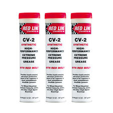 RED LINE CV-2 Synthetic High Temp Grease w/ Red Moly - 14 oz Tube 80402 - 3 Pack