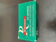 Old Remington Hi Speed 20 Center Fire KleanBore Cartridges Empty Ammo Box