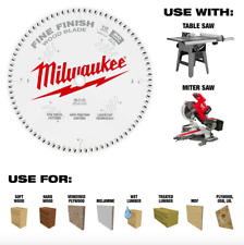 Milwaukee 12 in 80 Tooth Fine Finish Circular Table Miter Saw Blade Wood Cutter