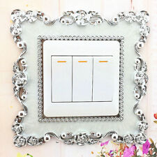 Home Switch Cover Square Shape Switch Wall Light Socket Stickers Room Decor WH