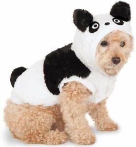 Panda Hoodie Pet Dog Costume S Small Puppy Bear Black White Shirt Hat Ears Teddy