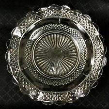Art Deco Glass Shallow Bow Dish Plate
