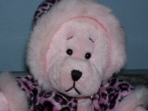 Please Adopt Me! My Name is Rachel a Plush 9 in. Tall Pink Bear by GANZ