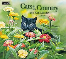 2018 LANG Art Calendar CATS IN THE COUNTRY Artwork by Susan Bourdet