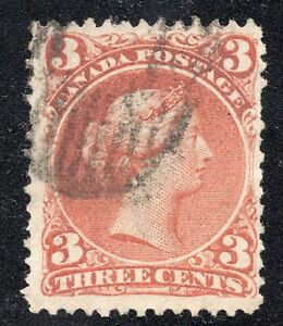 """Canada #25a Complete """"M"""" Watermark Bothwell Paper Used Nice!!! Scott CV $475"""